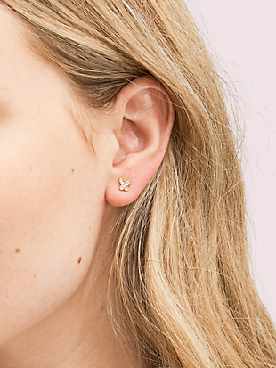 in a flutter pavé mini studs by kate spade new york hover view