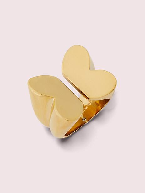 in a flutter statement ring, gold, large by kate spade new york