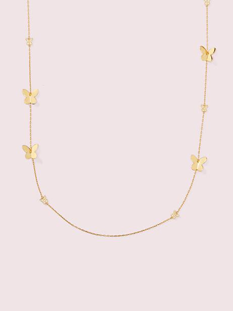 in a flutter scatter necklace by kate spade new york