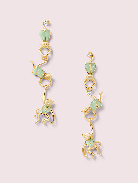 animal party monkey linear earrings by kate spade new york