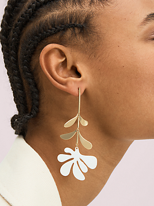botanical garden linear earrings by kate spade new york hover view