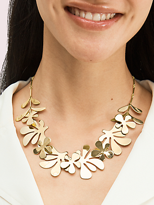 botanical garden statement necklace by kate spade new york hover view