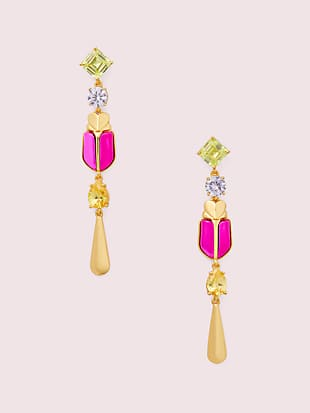 love bugs beetle linear earrings by kate spade new york non-hover view
