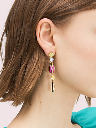 love bugs beetle linear earrings by kate spade new york hover view
