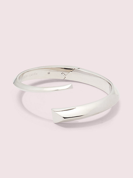 faceted bar open hinge cuff by kate spade new york