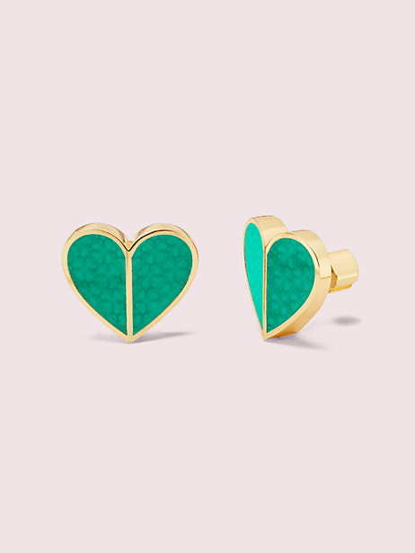 heritage spade textured heart statement studs by kate spade new york
