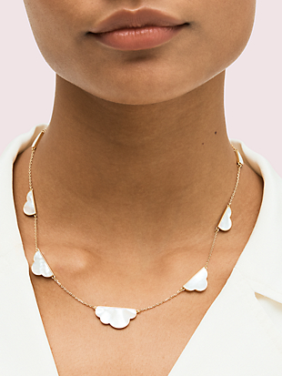 into the sky cloud scatter necklace by kate spade new york hover view