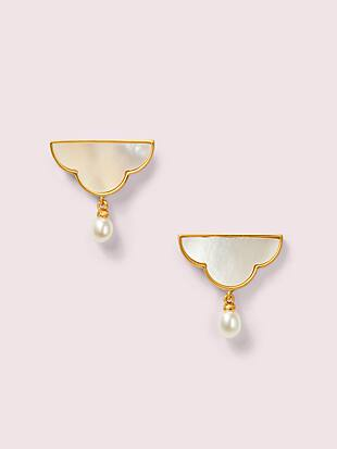 into the sky cloud drop earrings by kate spade new york non-hover view