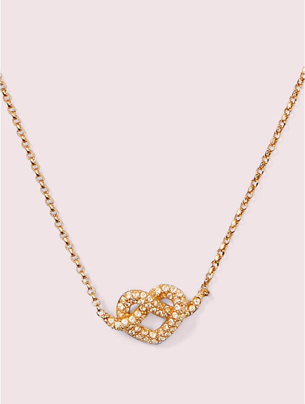 loves me knot pavé mini pendant, , rr_large