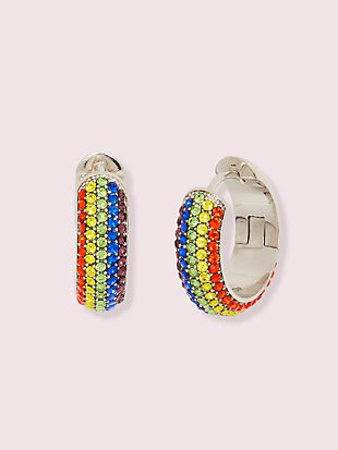 into the sky rainbow pavé huggies by kate spade new york non-hover view