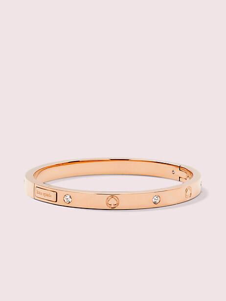infinite spade engraved spade bangle, rose gold, large by kate spade new york