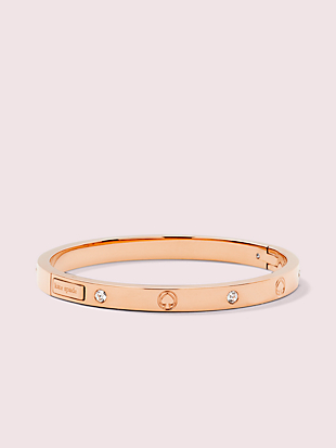 infinite spade engraved spade bangle by kate spade new york non-hover view