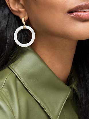 botanical garden resin hoops by kate spade new york hover view