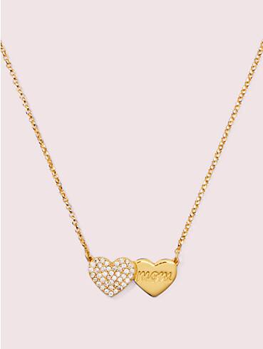 mom knows best pavé heart mom pendant, , rr_productgrid