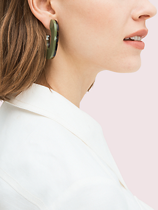 gleaming resin hoops by kate spade new york hover view