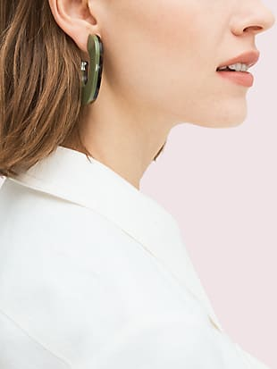 urban jungle resin hoops by kate spade new york hover view