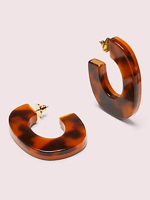 resin hoops by kate spade new york non-hover view