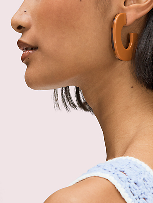 resin hoops by kate spade new york hover view