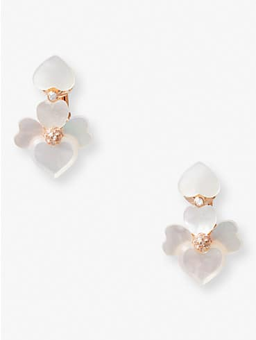 precious pansy clip-on drop earrings, , rr_productgrid