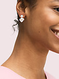 precious pansy clip-on drop earrings, , s7productThumbnail