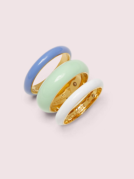 candy drops enamel ring set by kate spade new york