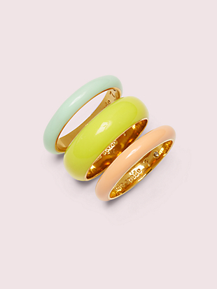 candy drops enamel ring set by kate spade new york non-hover view