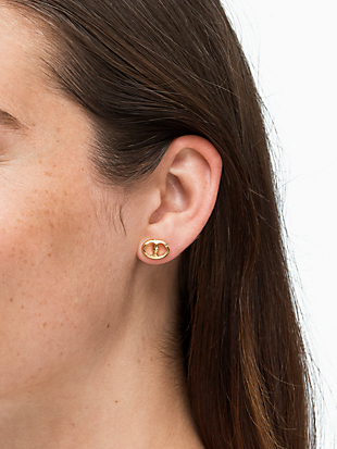 duo link studs by kate spade new york hover view