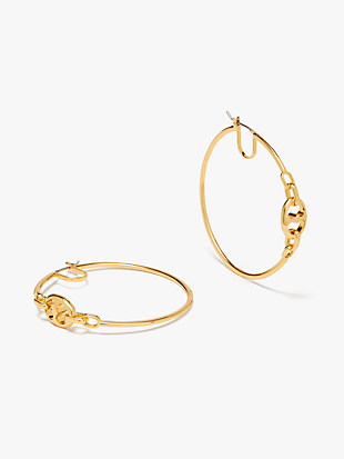 duo link large hoops by kate spade new york non-hover view