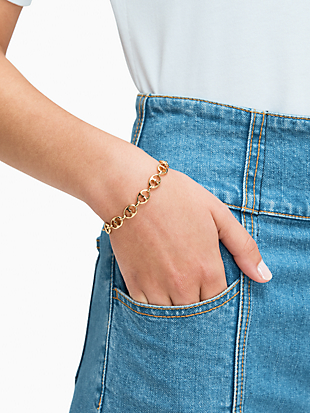 duo link chain bracelet by kate spade new york hover view