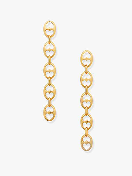 duo link statement linear earrings by kate spade new york