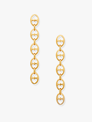 duo link statement linear earrings by kate spade new york non-hover view