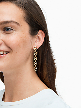 duo link statement linear earrings by kate spade new york hover view