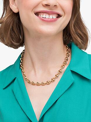 duo link collar necklace by kate spade new york hover view