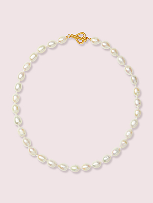 pearl drops pearl necklace by kate spade new york non-hover view