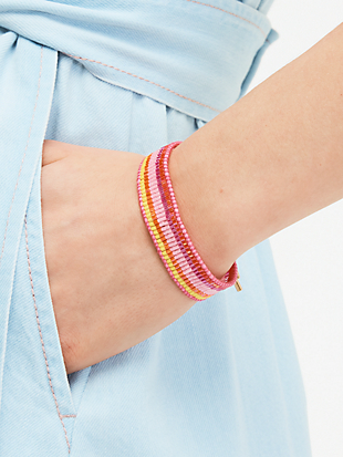 5-stripe seed bead bracelet by kate spade new york hover view