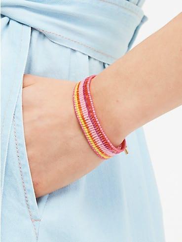5-stripe seed bead bracelet, , rr_productgrid