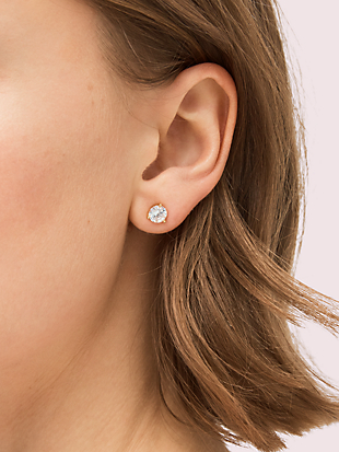 brilliant statements tri-prong studs by kate spade new york hover view