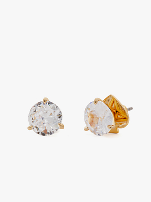 brilliant statements tri-prong studs by kate spade new york non-hover view