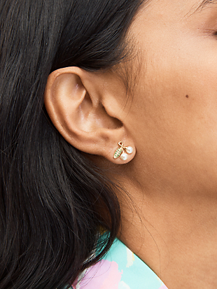 cherie cherry studs by kate spade new york hover view
