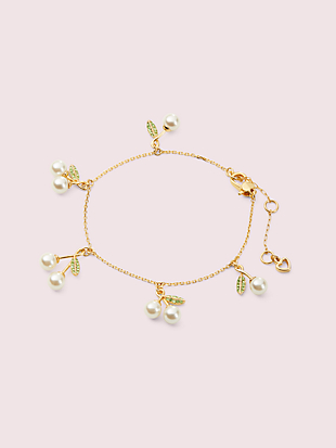 cherie cherry charm bracelet by kate spade new york non-hover view