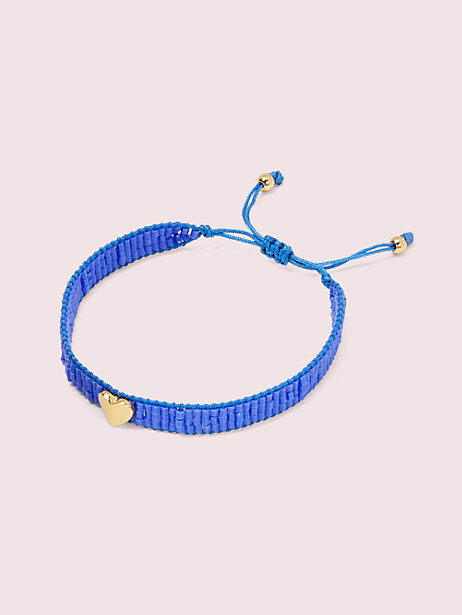 heritage spade friendship bracelet, blue, large by kate spade new york