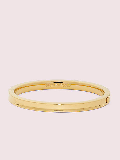 heart of gold hinged bangle by kate spade new york