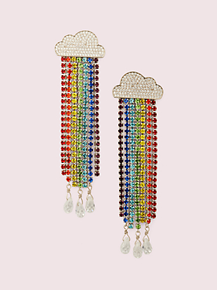 into the sky rainbow fringe linear earrings by kate spade new york non-hover view