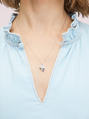 into the sky rainbow mini pendant by kate spade new york hover view