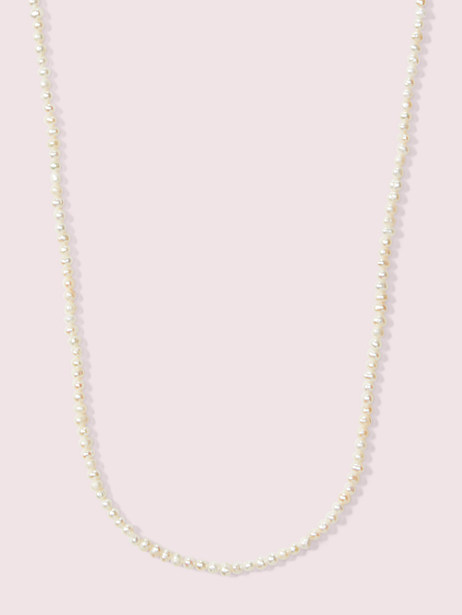 Pearl drops long pearl necklace | Kate Spade New York