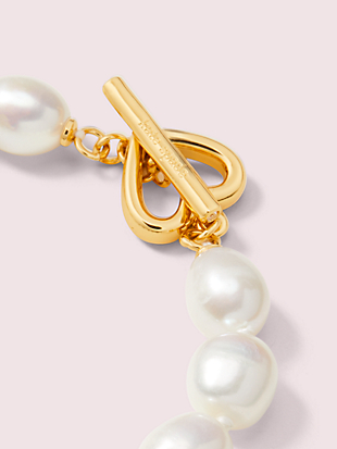 pearl drops pearl bracelet by kate spade new york hover view