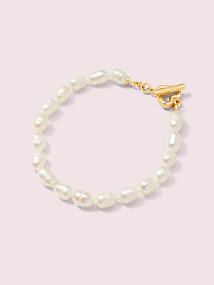 pearl drops small pearl bracelet by kate spade new york non-hover view