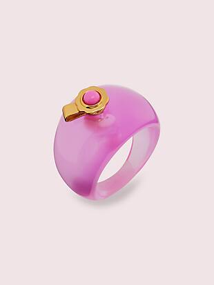 poolside resin ring by kate spade new york non-hover view