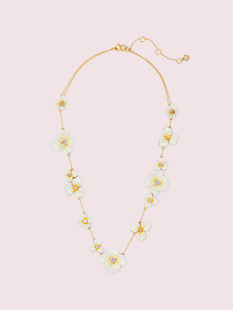 Precious pansy scatter necklace   Kate Spade New York