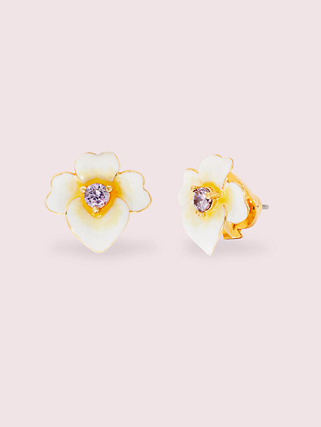 precious pansy studs by kate spade new york